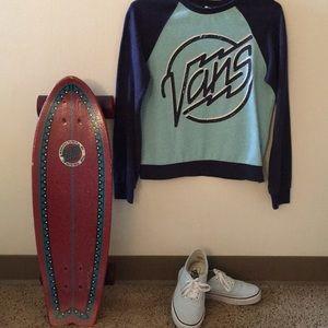 Purple and Blue Vans Sweatshirt